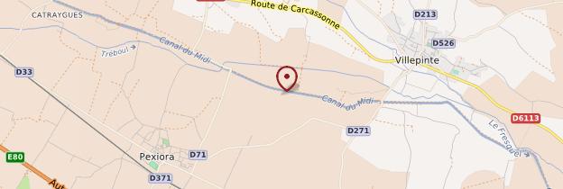 Carte Canal du Midi - Languedoc-Roussillon