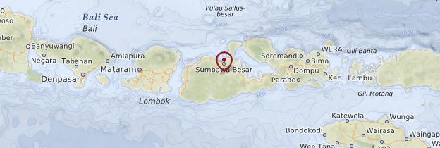 Carte Sumbawa - Indonésie