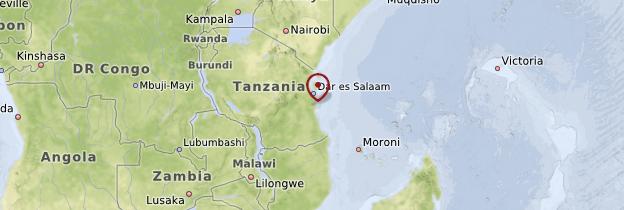 Carte Côte tanzanienne - Tanzanie