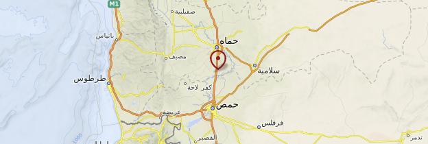 Carte Vallée de l'Oronte - Syrie
