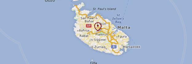 Carte Centre de Malte - Malte