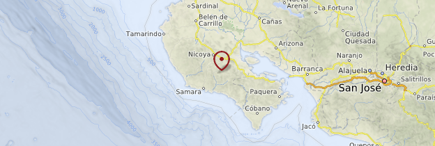 Carte Péninsule de Nicoya - Costa Rica