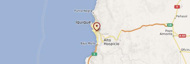 Carte Région d'Iquique - Chili