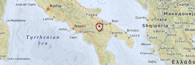 Carte Basilicate - Italie