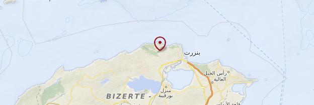 Carte Côte Corail - Tunisie