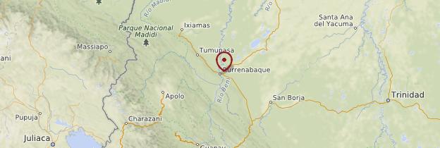 Carte Amazonie - Bolivie