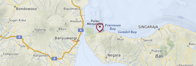Carte Île de Menjangan - Bali