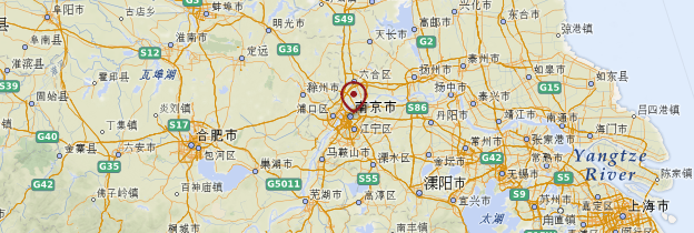 Carte Jiangsu - Chine