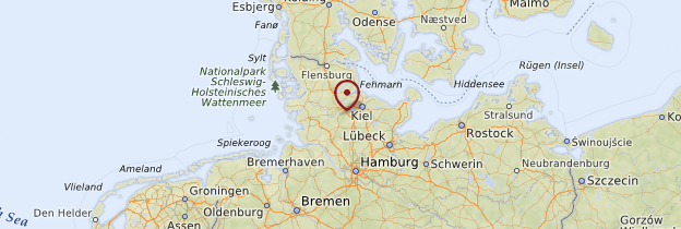 Carte Hambourg et le Schleswig-Holstein - Allemagne