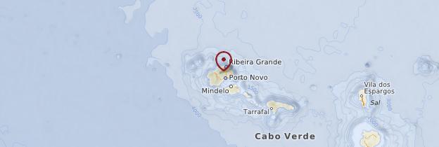 Carte Île de Santo Antão - Cap-Vert