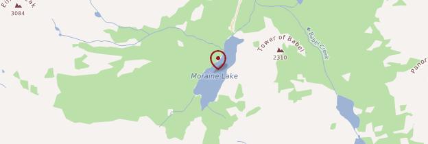 Carte Moraine Lake - Canada