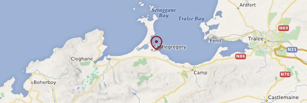 Carte Castlegregory (Caislean Graighre) - Irlande