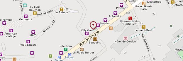 Carte Rue de Boigne - Alpes