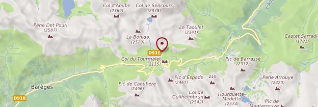 Carte Col du Tourmalet - Midi toulousain - Occitanie