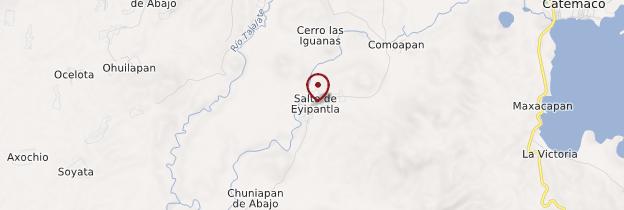 Carte Cascade d'Eyipantla - Mexique