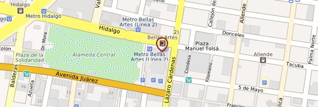 Carte Palacio de Bellas Artes - Mexico