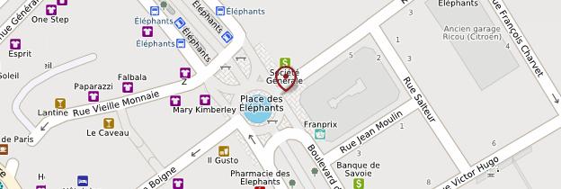 Carte Fontaine des Eléphants - Alpes