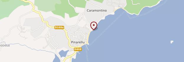 Carte Plage de Fautéa - Corse