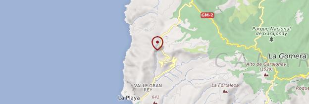 Carte Valle Gran Rey - Canaries