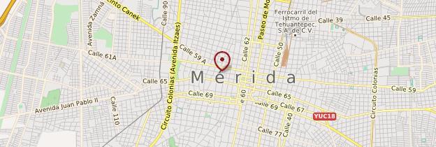 Carte Zòcalo de Mérida - Mexique