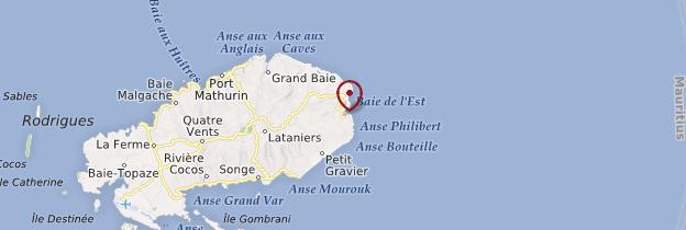 Carte Saint-François - Île Maurice, Rodrigues