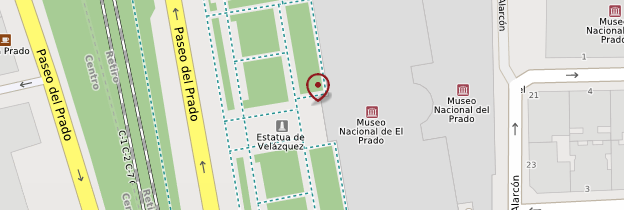 Carte Musée du Prado - Madrid