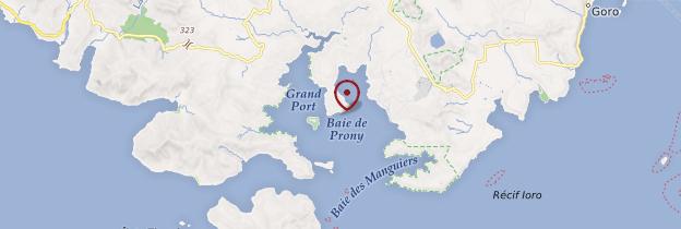Carte Baie de Prony - Nouvelle-Calédonie