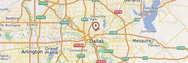 Carte Dallas - États-Unis