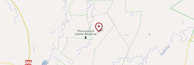 Carte Thornybush - Afrique du Sud