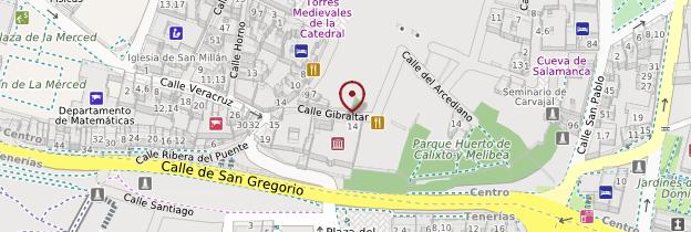 Carte Casa Lis de Salamanque - Espagne