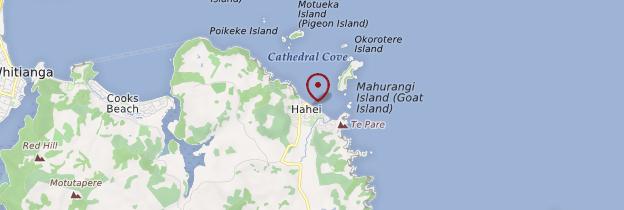 Carte Cathedral Cove - Nouvelle-Zélande