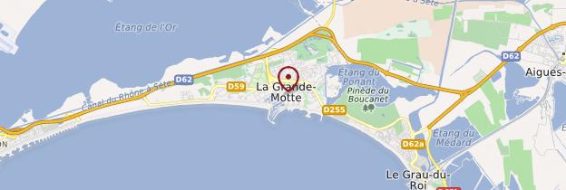 Carte La Grande-Motte - Languedoc-Roussillon
