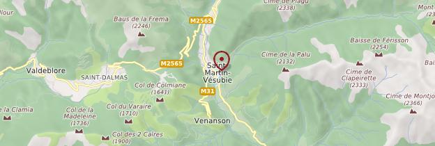 Carte Saint-Martin-Vésubie - Côte d'Azur