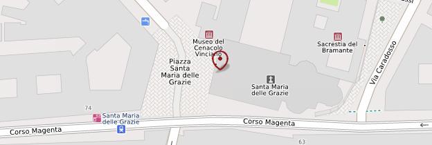Carte Chiesa Santa Maria delle Grazie - Milan