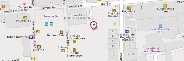 Carte Temple Bar - Dublin