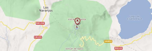 Carte Cerro Santa Ana - Salvador