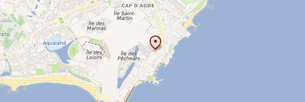 Carte Cap-d'Agde - Languedoc-Roussillon