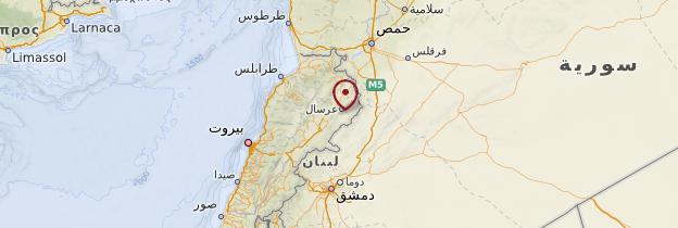 Carte Beqaa - Liban