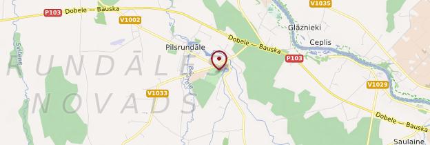 Carte Palais de Rundale (Pilsrundāle) - Lettonie