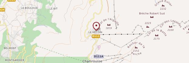 Carte Chamrousse - Alpes