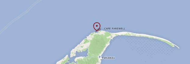 Carte Wharariki Beach - Nouvelle-Zélande
