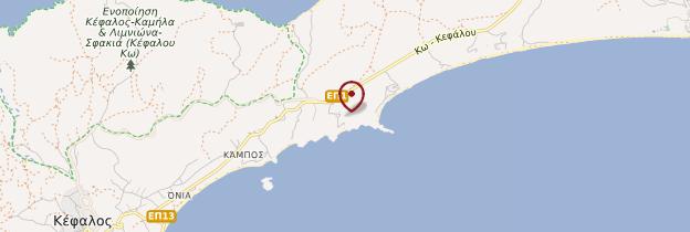 Carte Agios Stéfanos - Îles grecques