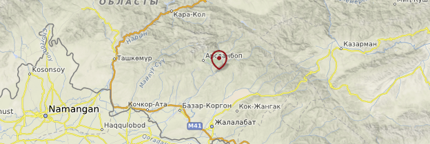 Carte Arslanbob - Kirghizistan