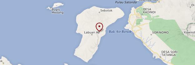 Carte Île de Moyo - Indonésie
