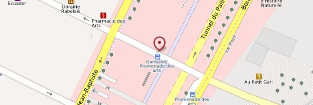 Carte Musée d'Art moderne et d'Art contemporain (MAMAC) - Nice