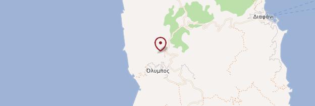 Carte Olymbos - Îles grecques