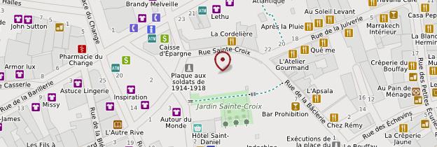 Carte Église Sainte-Croix - Nantes