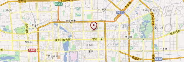 Carte Hutong - Pékin (Beijing)