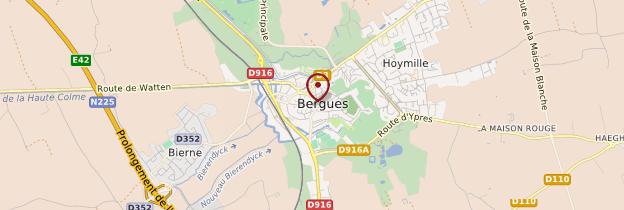 Carte Bergues - Nord-Pas-de-Calais