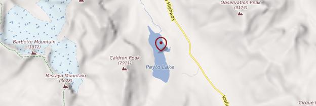 Carte Peyto Lake - Canada